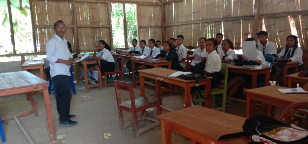 Kondisi Gedung Sekolah SMK Bina Mandiri sebelum di renovasi