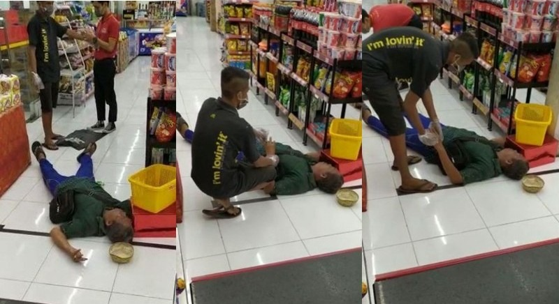 Pria Meninggal Didalam Minimarket-JaringPos
