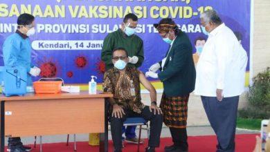 Program Vaksinasi Covid 19 di Privinsi Sultra Tahap Pertama-JaringPos