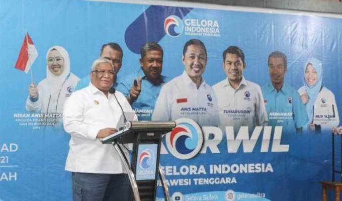 Partai Gelora Dibuka Gubernur Ali Mazi-JaringPos