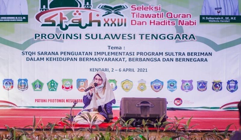 Seleksi Tilawatil Quran dan Hadits STQH ke 26 Tingkat Provinsi Sulawesi Tenggara Tahun 2021-JaringPos