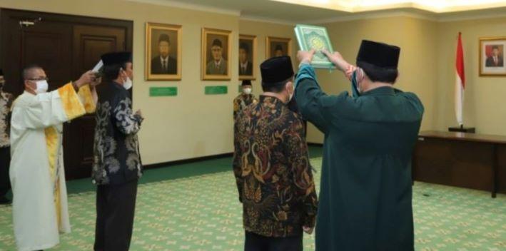Menag Yaqut Cholil Qoumas Lantik Rektor UIN Riau dan IAHN Mataram