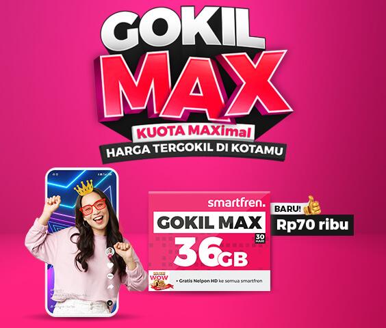 kartu perdana Smarfren GOKIL MAX 36GB-JaringPos