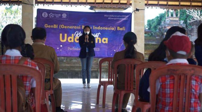 GenBI Unud Gelar Program BICARA di Desa Buahan Gianyar-JaringPos
