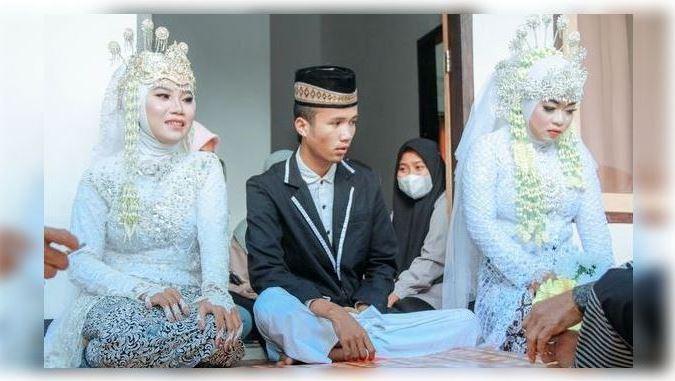 Pria di Lombok Nikahi Dua Wanita Sekaligus