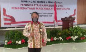 Ketua DPD LPRI NTB Heffi Alamsyah menghadiri acara Bintek dan penyuluhan, Selasa (7/9/2021).