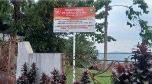 Lahan seluas 800 m yang diklaim Sentul City termasuk rumah milik pengamat politik Rocky Gerung di Kecamatan Babakan Madang, Jawa Barat, Senin (27/9/2021).